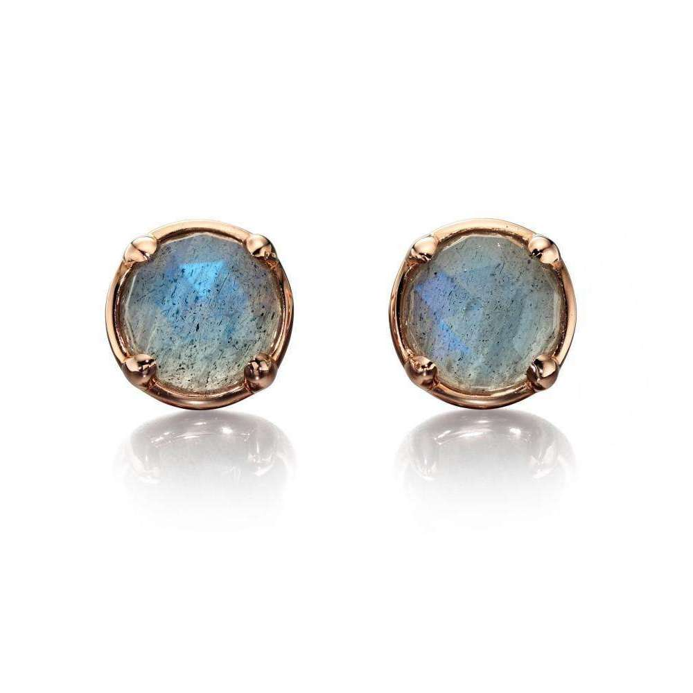 9kt Rose Gold Labradorite Earrings
