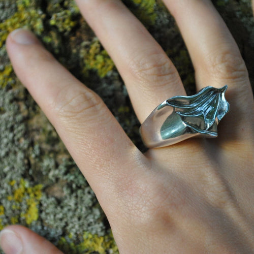 Sterling Silver Glacier Statement Ring