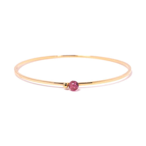 Gold & Pink Tourmaline Satellite Bangle ,[product vendor],JewelStreet