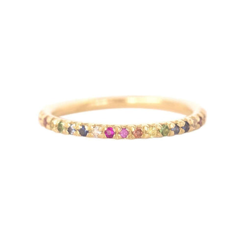 Gold & Rainbow Demi Pointe Ring ,[product vendor],JewelStreet