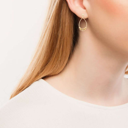 Gold Serengeti Dangling Earrings-Betty Balaba-JewelStreet US