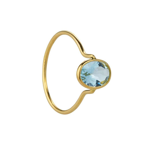18kt Aquamarine Ring-Juvi-JewelStreet US