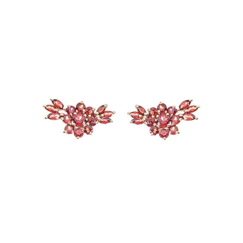 Garnet Spring Earrings-Isa Bagnoli-JewelStreet US