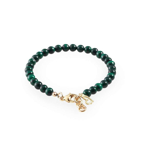Green Malachite Gold Heart Bracelet-Loushelou-JewelStreet US