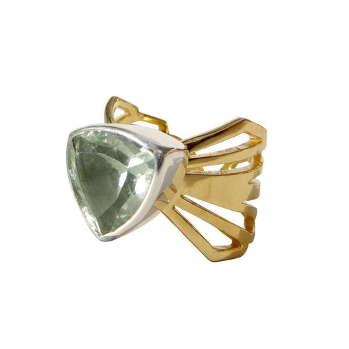 Adjustable Chunky Folded Wing Ring-Anna Byers Jewellery-JewelStreet US