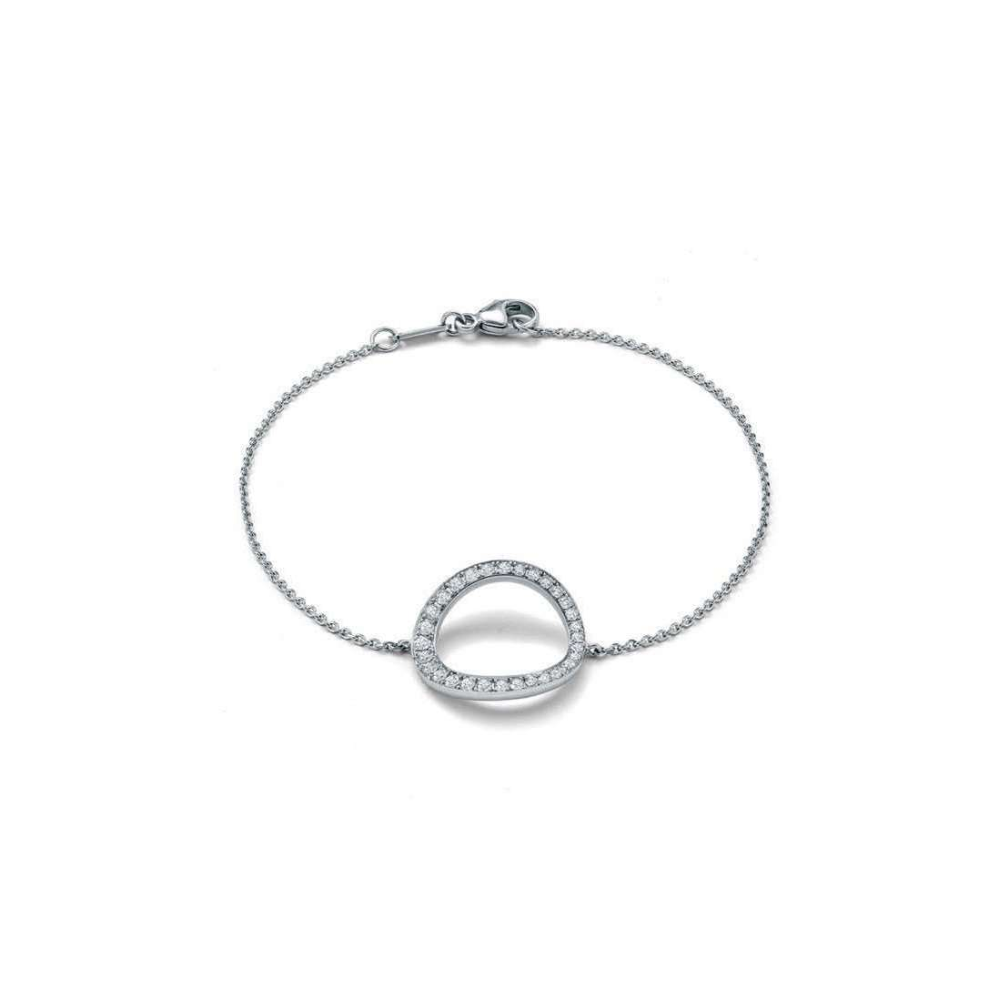 18kt White Gold Halo Diamond Bracelet-Soley London-JewelStreet US