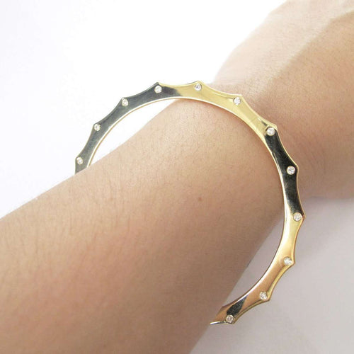 Harper Edge Escapement Bangle in Yellow Gold-Candice Luk Fine Jewellery-JewelStreet US