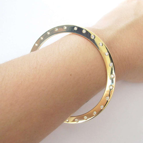 Harper Round Escapement Bangle-Candice Luk Fine Jewellery-JewelStreet US