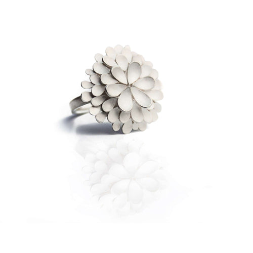 Dahlia Large Silver Ring-Dagmar Korecki-JewelStreet US
