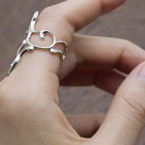 Arabesque Double Swirl Ring-ileava jewelry-JewelStreet US