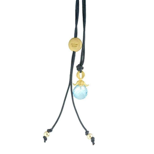 Blue Topaz Flower Pendant-Necklaces-Militza Ortiz-JewelStreet
