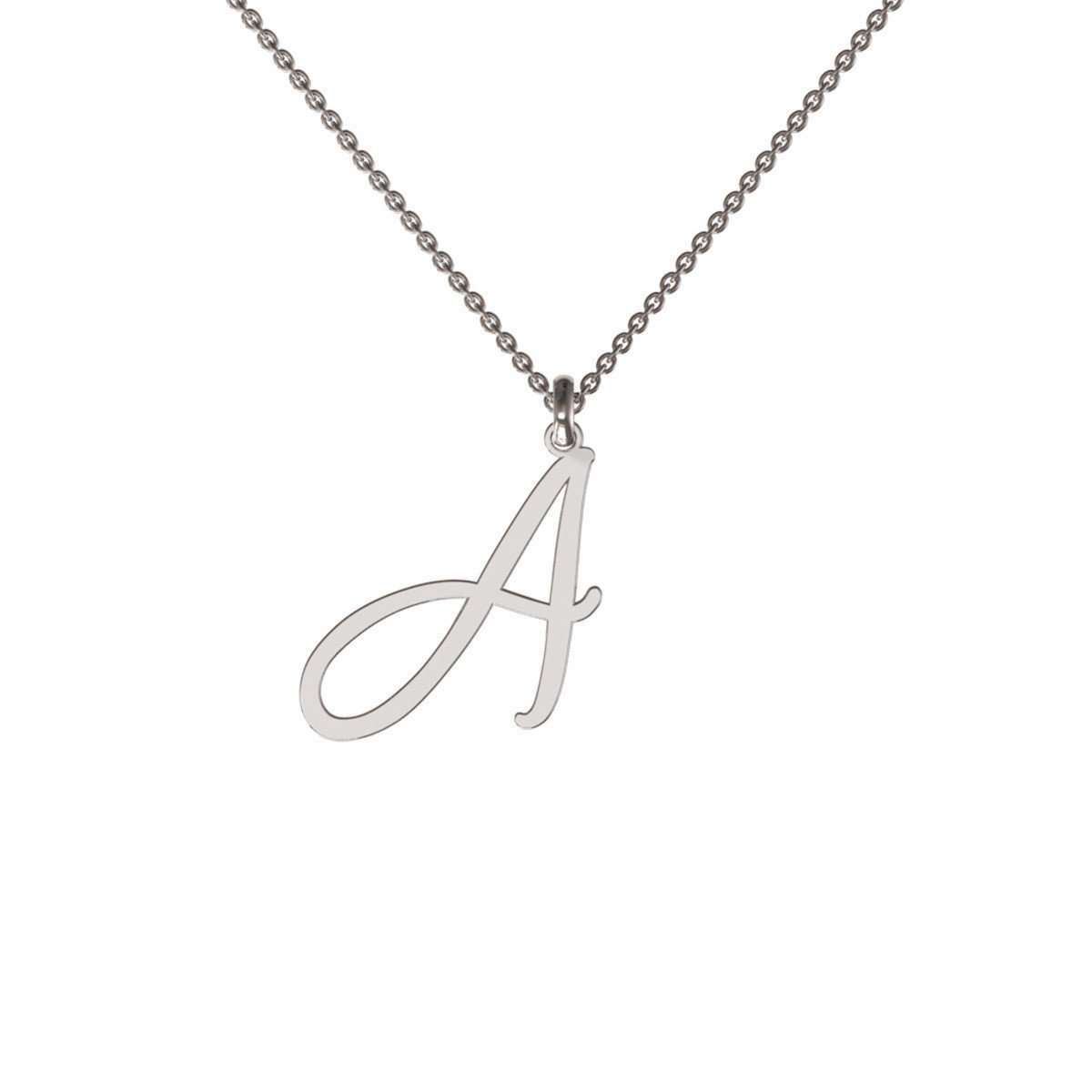 Flowing Initial Necklace-me.mi-JewelStreet US