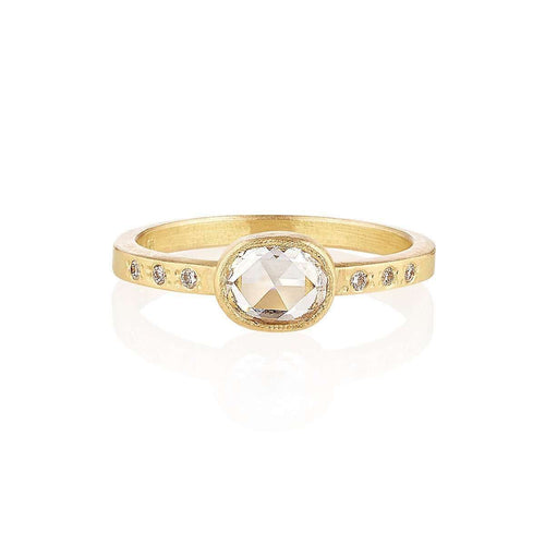 18kt Fairtrade Gold Iris Diamond Ring-Shakti Ellenwood-JewelStreet US