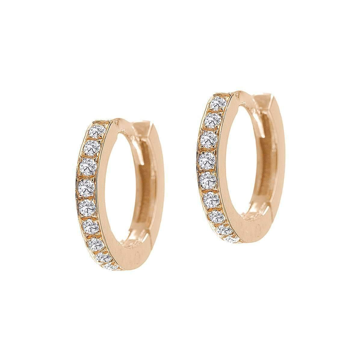 Mini Millennium Huggie Single-Earrings-Jezebel London-JewelStreet