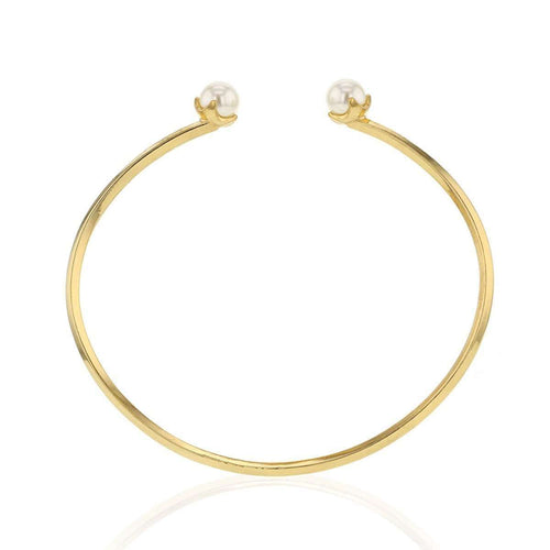 Balance Yellow Gold Plated Pearl Bracelet-HASLA-JewelStreet US