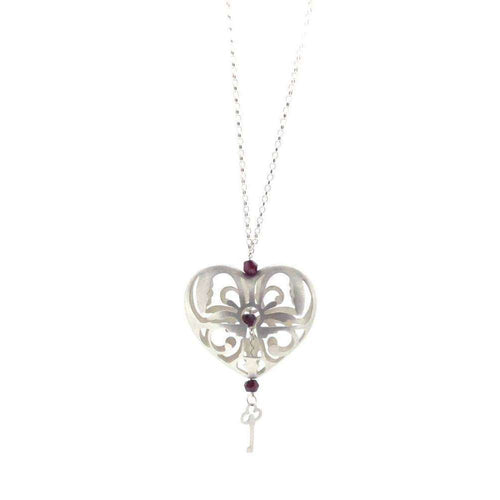 Peeping Keyhole Heart Necklace-Sian Bostwick Jewellery-JewelStreet US