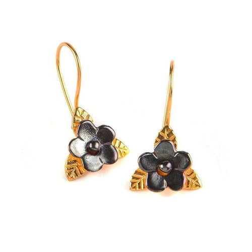 Duo Color Flower Earrings-Toosis-JewelStreet US