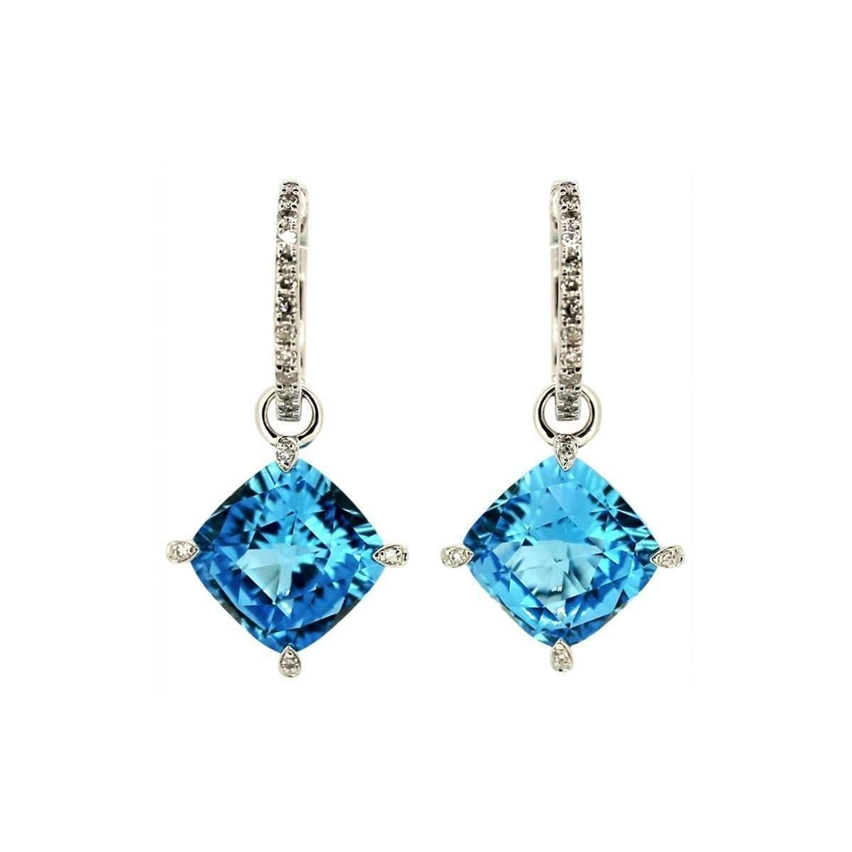 Emilie Blue Topaz Earrings-Kura Fine Jewellery-JewelStreet US