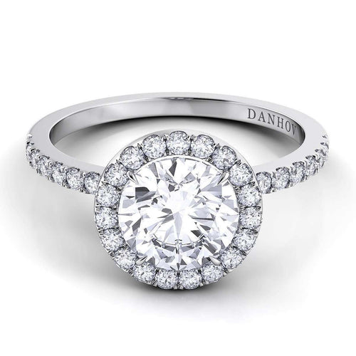 Danhov Per Lei Single Shank Engagement Ring-Danhov-JewelStreet US