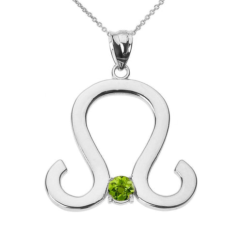 0.22ct Leo Zodiac Pendant Necklace In 9kt White Gold