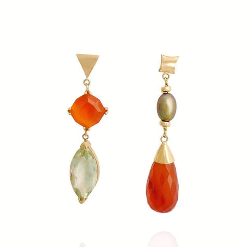 Lime and Ginger Gold Earrings ,[product vendor],JewelStreet