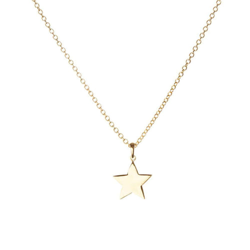 Gold Star Charm on Heavy Chain in Yellow Gold-Luis Miguel Howard-JewelStreet US