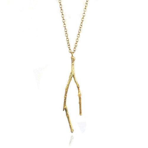 18kt Gold Vermeil Long Twig Necklace-Mayah Jewellery-JewelStreet US