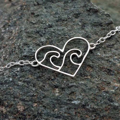 Sterling Silver Love The Ocean Bracelet