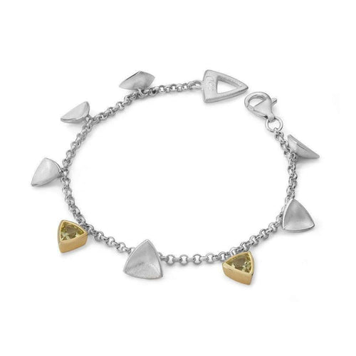 Mariposa Cocktail Gold And Silver Bracelet-Charmian Beaton Designs-JewelStreet US