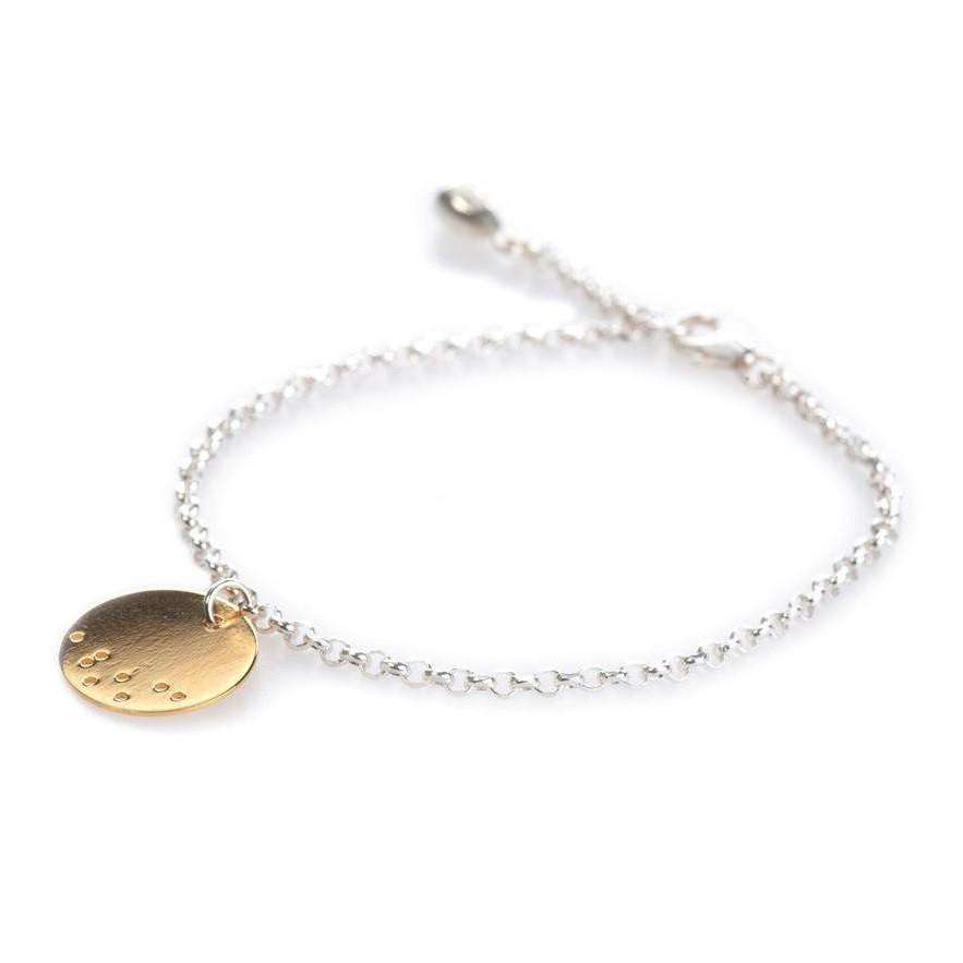 Gold Asanoha Fine Bracelet, Single Charm-Maro-JewelStreet US