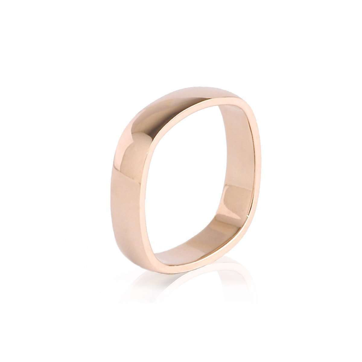 Men's Rose Gold Comfort-Fit Plain Wedding Band-Nigel OReilly Goldsmith and Jewellery Design-JewelStreet US