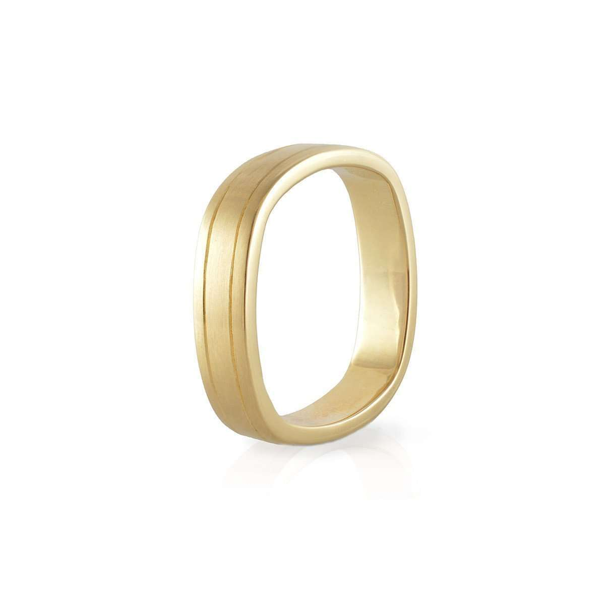 Men's Yellow Gold, Comfort Fit Engraved Wedding Band-Nigel OReilly Goldsmith and Jewellery Design-JewelStreet US