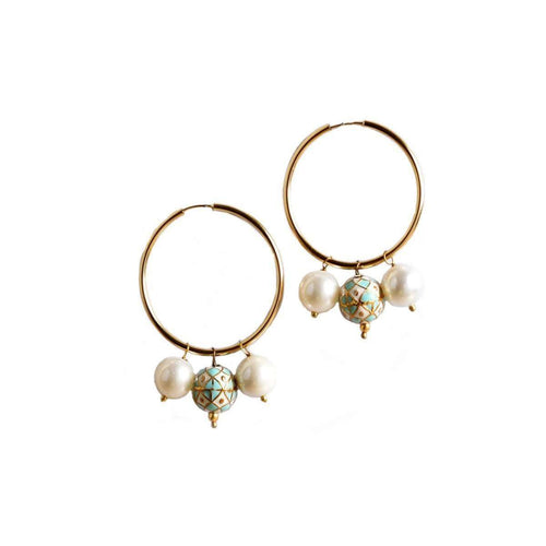 Bohemia Hoop Earrings-M's Gems by Mamta Valrani-JewelStreet US