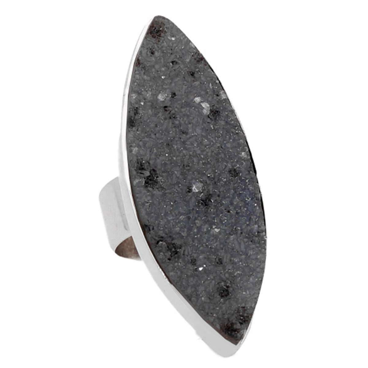 Midnight Black Druzy Ring-Lia Chahla-JewelStreet US