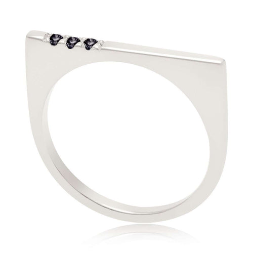 Minerva Bar Silver Ring-Neola-JewelStreet US