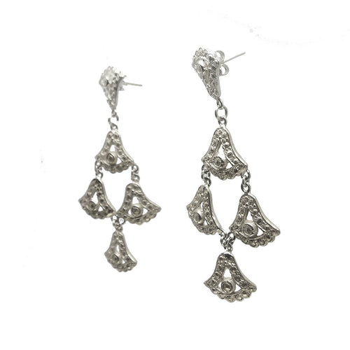 Sterling Silver Moonshine Lotus Earrings ,[product vendor],JewelStreet