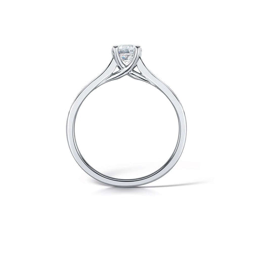 Contemporary Ethical Round Brilliant Diamond Ring-Arctic Circle-JewelStreet US