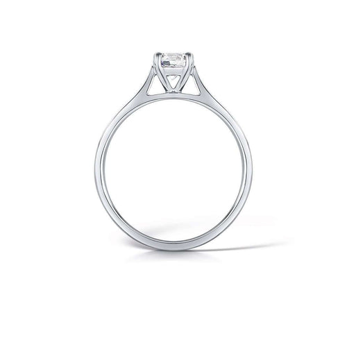 Classic Ethical Round Brilliant Diamond Ring-Arctic Circle-JewelStreet US