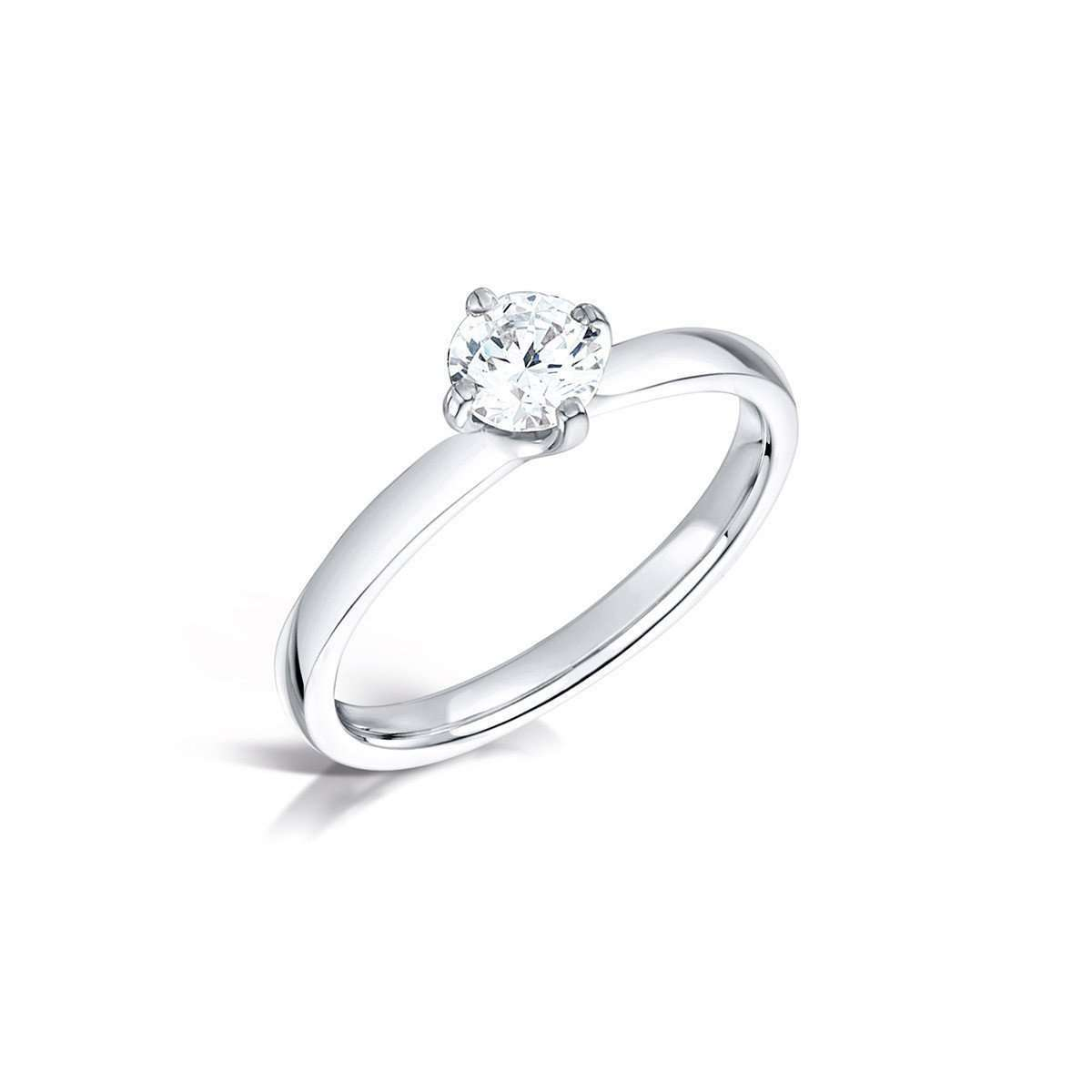 D Colour Round Twist Diamond Solitaire-Arctic Circle-JewelStreet US