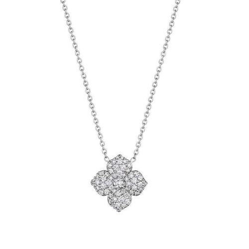 Diamond Pave Flower Pendant-Penny Preville-JewelStreet US