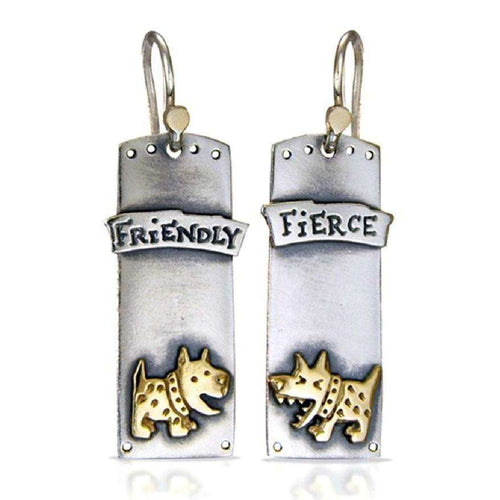 'Fierce and Friendly' Drop Earrings-Nick Hubbard Jewellery-JewelStreet US