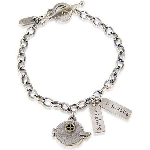 'Wishes and Kisses' Bracelet-Nick Hubbard Jewellery-JewelStreet US