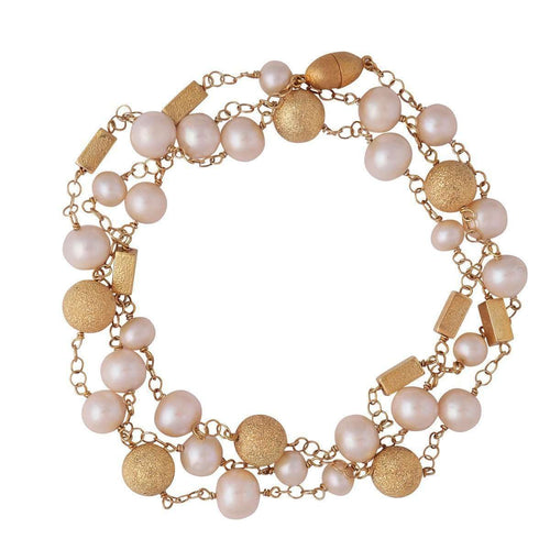 Gold Chain And Pearls Rosario-Plumeria Exclusive London-JewelStreet US
