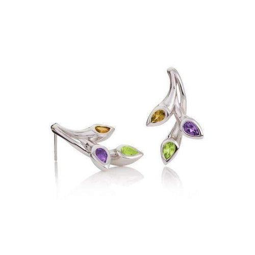 Kazo Earrings With Citrine, Peridot and Amethyst-Earrings-MANJA Jewellery-JewelStreet