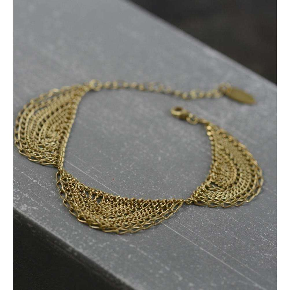 Gold Trefoil Bracelet-Kate Wood Jewellery-JewelStreet US