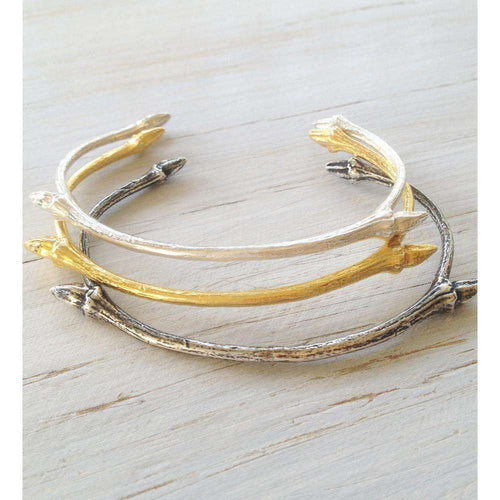 18kt Gold Vermeil Open Twig Bangle-Mayah Jewellery-JewelStreet US