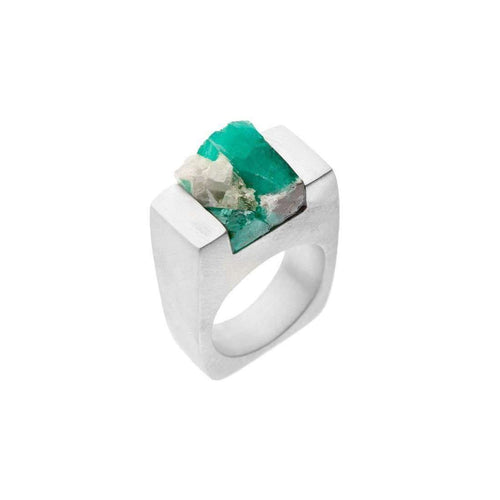 Emerald Silver Ring - Love-Pasionae-JewelStreet US