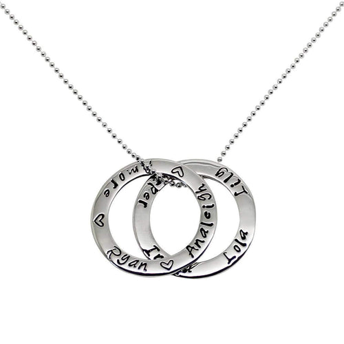Personalised Double Circle of Love Necklace-Hilary&June-JewelStreet EU