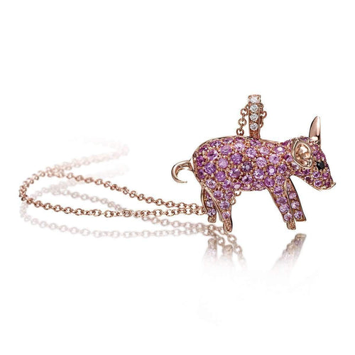 Pet Jewels Collection Pig Necklace-Pinomanna-JewelStreet EU