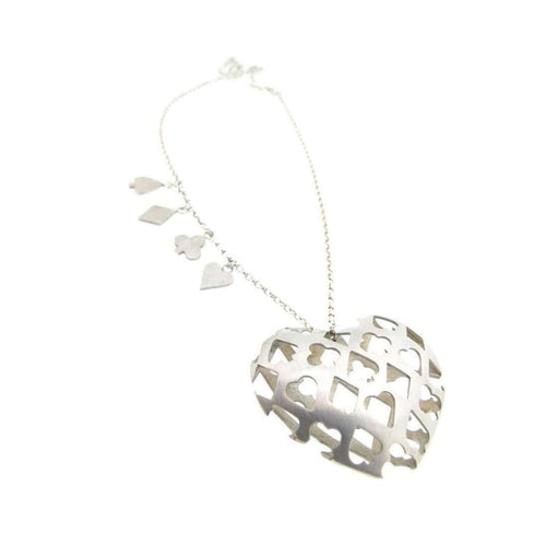 Playing Card Suit Heart Necklace-Sian Bostwick Jewellery-JewelStreet US